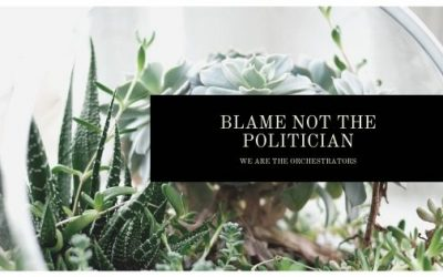 BLAME NOT THE POLITICIAN FOR YOUR WOES, WE ARE THE ORCHESTRATORS.